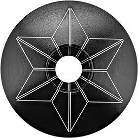 Supacaz Star Capz Ahead Cap anodised black